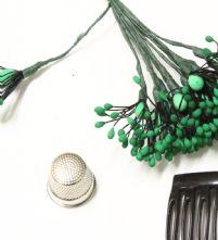 Bunch of 12 Emerald Green Matt Flower Making Peps